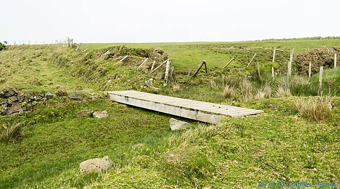 Brisdge in abandoned or closed footpath on the Lleyn peninsula near Aberdaron, photographed by Charles Hawes