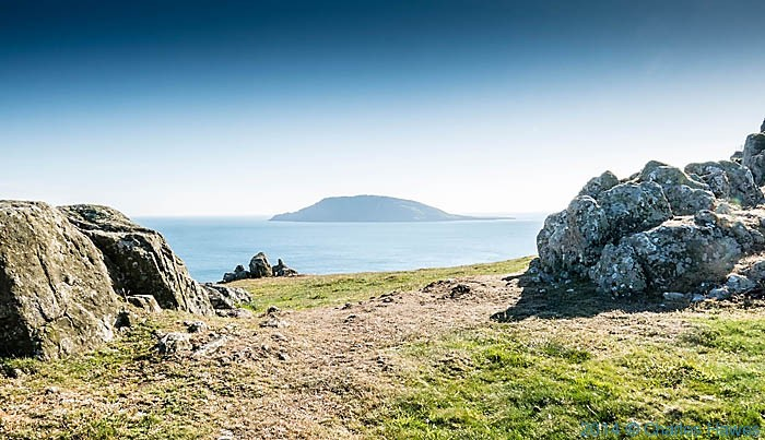 View to Bardsey Island, from The lLeyn peninsula, photographed by Charles Hawes