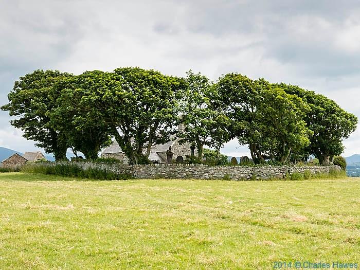 St Baglan's Curch, near Caernarfon, photographed from The Wales Coast Path by Charles Hawes
