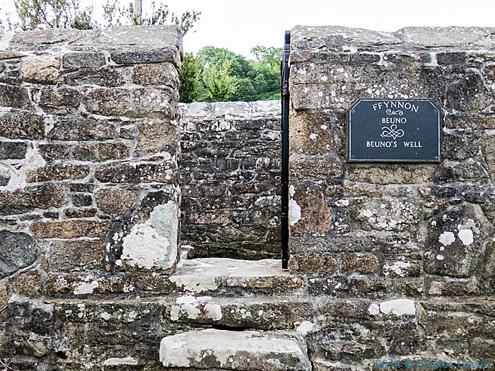 Saint Beuno's well by the Wales Coast Path at Clynnog fawr, photographed by Charles Hawes