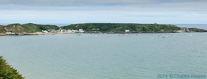 Panorma of Porth Dinllaen. photographed from The Wales Coast Path by Charles Hawes