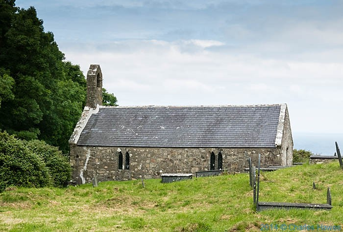 St Beuno's church, Pistyll, photographed from The Wales Coast Path by Charles Hawes