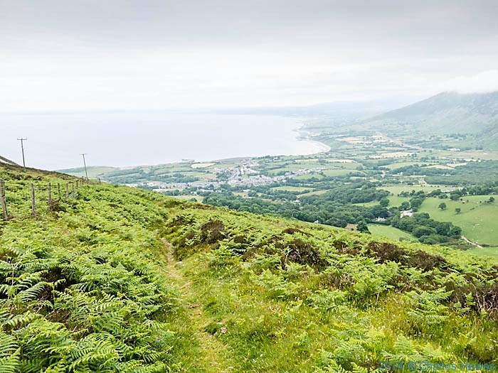 View to Trefor from the wales Coast Path, photographed by Charles Hawes
