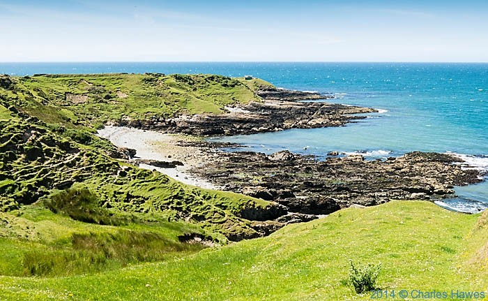 Porth Llydan photographed from the Wales Coast Path by Charles Hawes