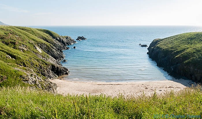 Porth Lago, photographed from The Wales Coast Path by Charles Hawes