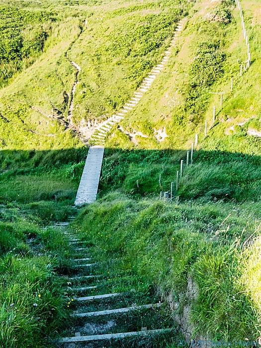 The Wales Coast path near Porth Ty-mawr, photographed from The Wales Coast Path by Charles Hawes