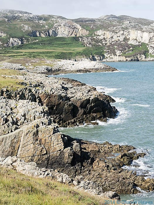 View to Holyhead Mountain from the Wales Coast Path near Holyhead, Anglesey, photographed by Charles Hawes