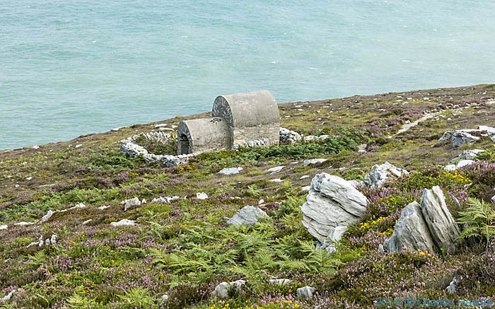 Shrine near North Stack, photographed from The Wales Coast Path on Anglesey by Charles Hawes