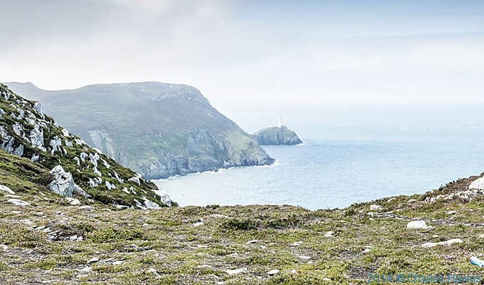 View to South Stack Lighthouse from The Wales Coast Path, photographed by Charles Hawes