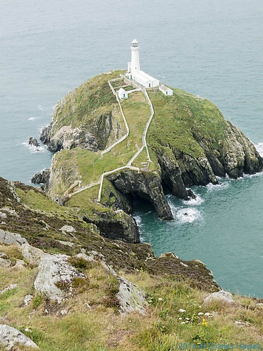 South Stack Lighthouse, Anglesey, photographed from The Wales Coast Path by Charles Hawes