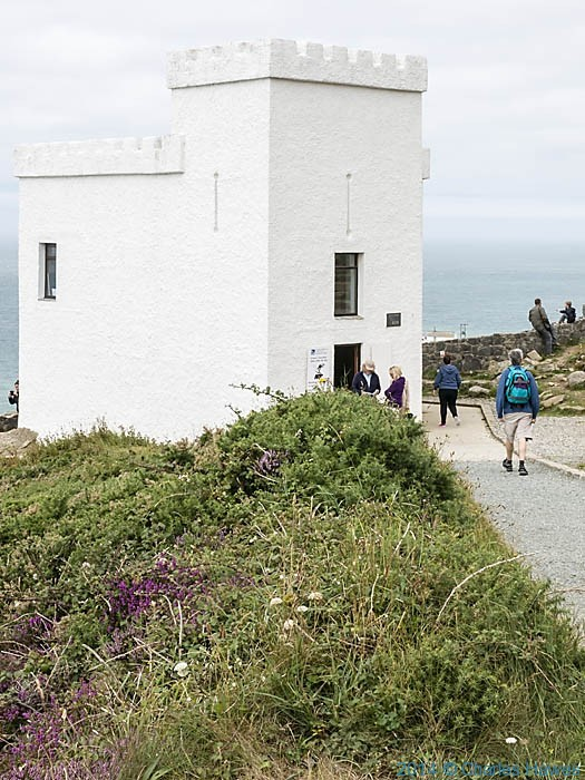 Ellin's Tower  near South Stack on Anglesey, photographed from The Wales Coast Path by Charles Hawes