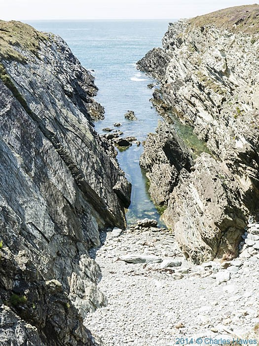 The South Stack Cliffs Nature Reserve, Anglesey, photographed from The wales Coast Path by Charles Hawes