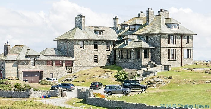Arts and Crafts house at Trearddur Bay, photographed from The Wales Coast Path by Charles Hawes
