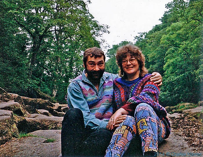 Anne wareahm and Charles Hawes photographed at The Strid in Yorkshire in 1990