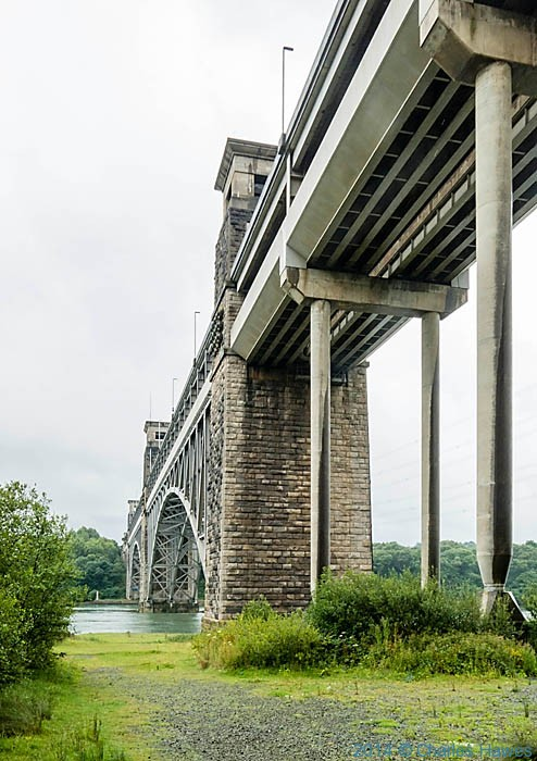 The Britannia Bridge, Anglesey photographed from The Wales Coast Path by Charles Hawes
