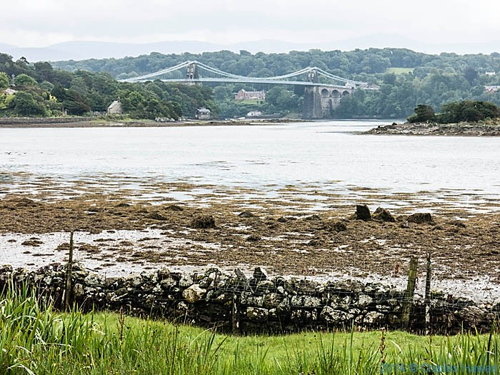 The Menai Bridge from near the Britannia Bridge, Anglesey, photographed by Charles Hawes