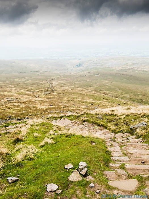 A Pennine Journey heading from Ingleborough to Ingleton, photographed by Charles Hawes