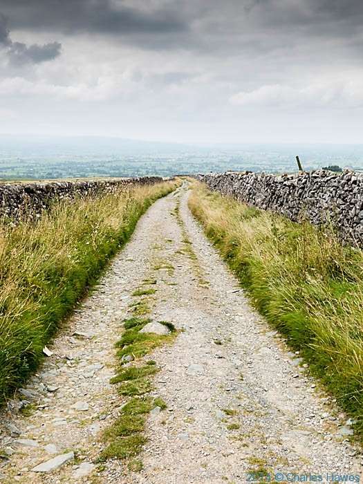 Fell Lane leading to Ingleton, photographed by Charles Hawes