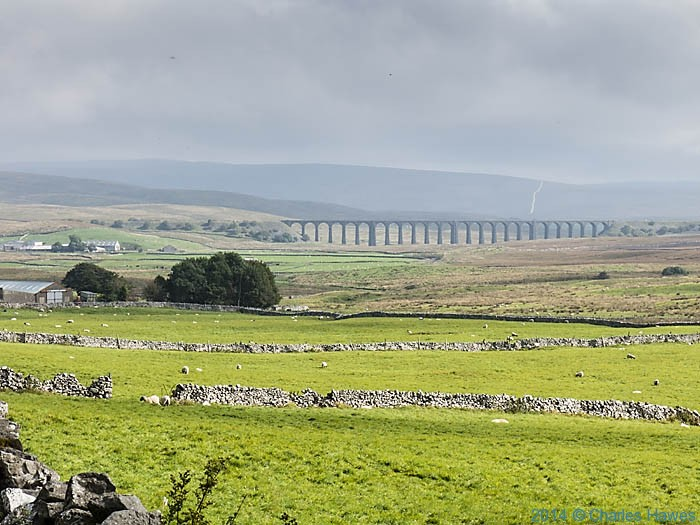 Ribblehead Viaduct, photographed from the Dales High Way by Charles Hawes