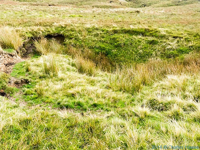 Shake Hole on Fountains Fell, photographed from The Pennine Way by Charles Hawes