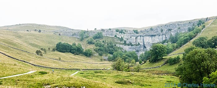 Malham Cove photographed from The Pennine Way by Charles Hawes