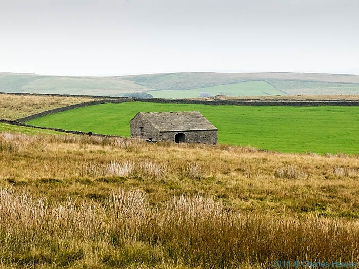 Barn on Hetton Common, photographed from The Dales High Way by Charles Hawes
