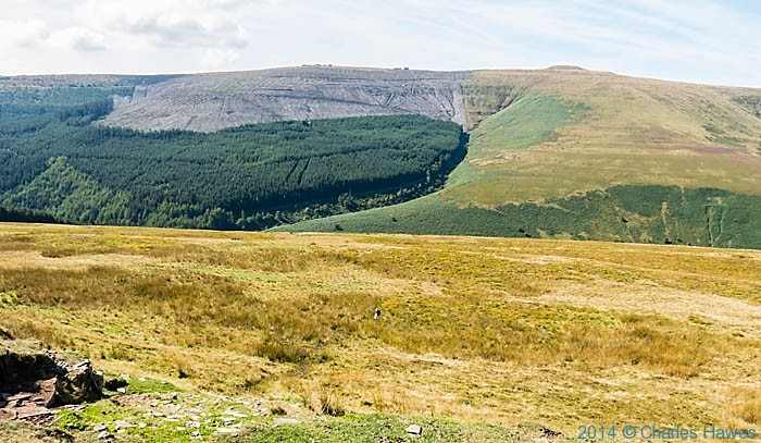 View to Waun Fach in the Black Mountains, photographed by Charles Hawes