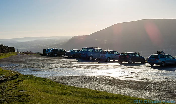 Car Park for Sugar Loaf, Abergavenny, Monmouthshire, photographed by Charles Hawes