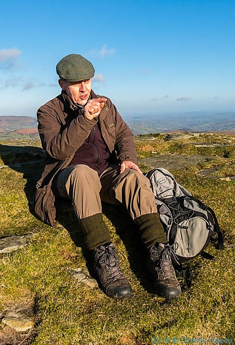 paul Steer on Sugar Loaf, Abergavenny, Monmouthshire, photographed by Charles Hawes