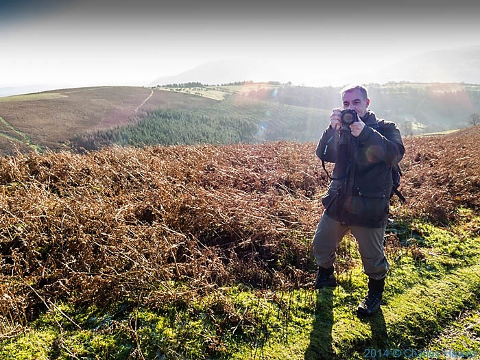 Paul Steer on ther path near Sugar Loaf, Abergavenny, Monmouthshire, photographed by Charles Hawes