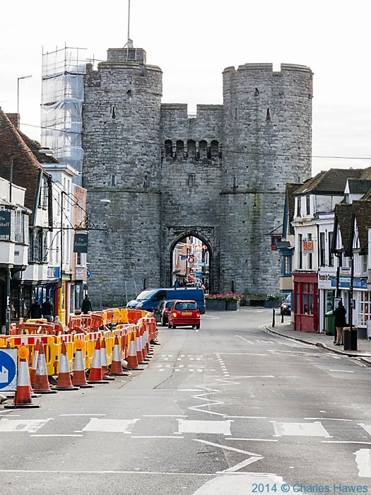 West Gate, Canterbury, photographed by Charles Hawes