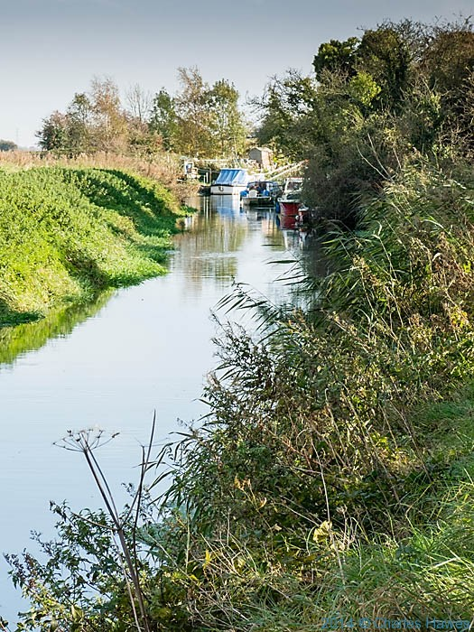 Boats on the Little Stour near Canterbury, photographed by Charles Hawes