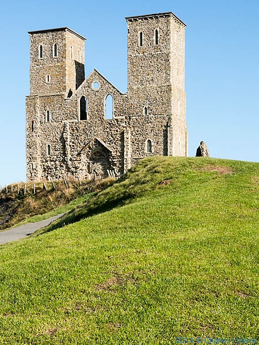 St Mary's Church, Reculver, photographed from The Saxon Shore Way by Charles Hawes
