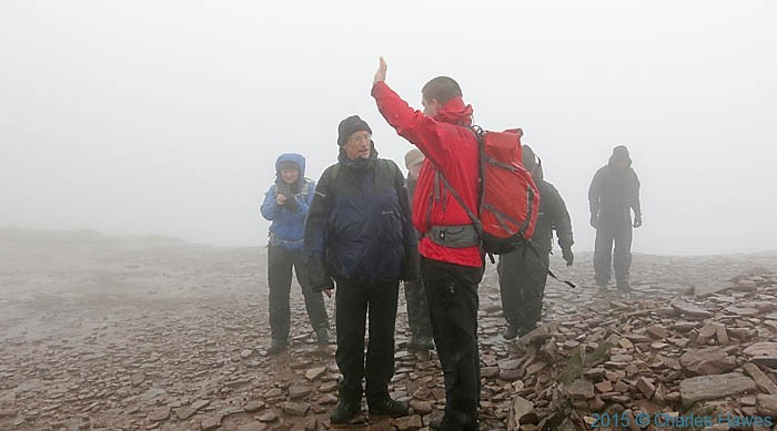 Group on Corn Du, Brecon Beacons National Park, Wales, photographed by Charles Hawes