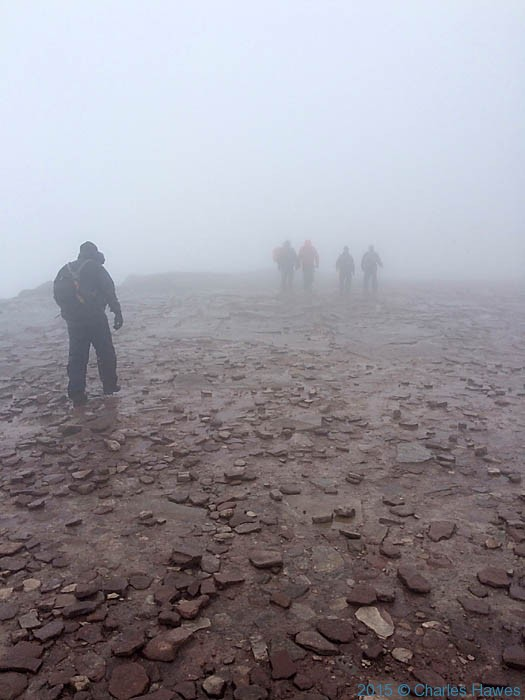 Walking between Corn Do and Pen - Fan, Brecon Beacons National Park, photographed by Charles Hawes
