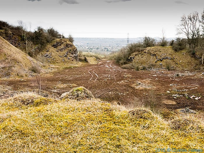 Disued quarry off the Rhymney Valley Ridgeway walk, photographed by Charles Hawes