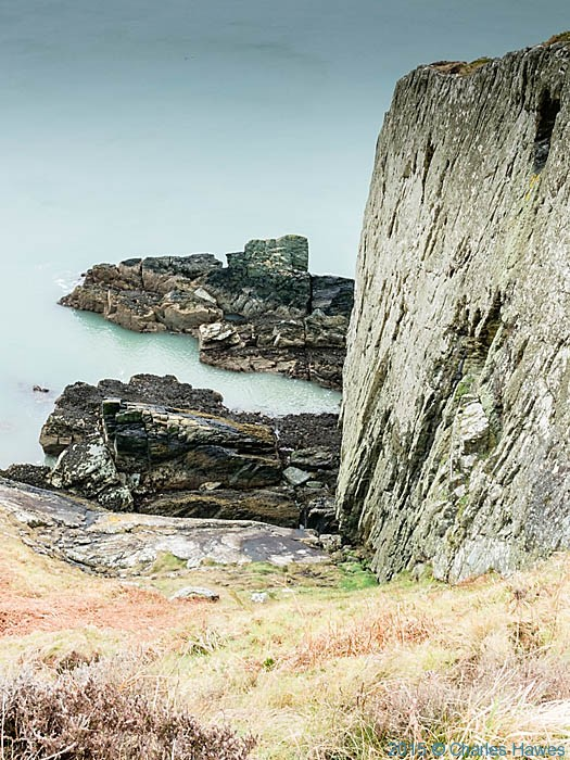 Cliffs near Bull Bay photographed from the Wales Coast Path in Anglesey by Charles Hawes