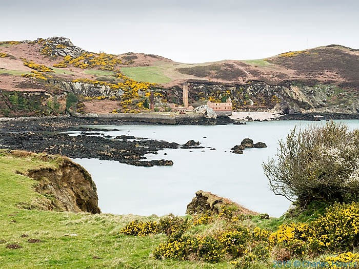 View to the Borthwen brickworks, Porth Wen photographed from the Wales Coast Path in Anglesey by Charles Hawes
