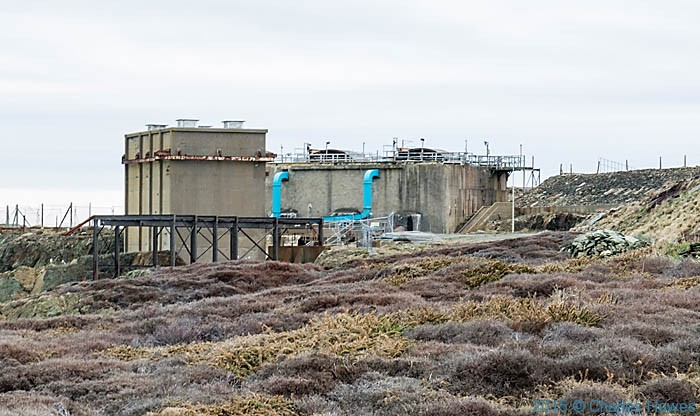 Bromine extraction plant photographed from the Wales Coast Path in Anglesey by Charles Hawes