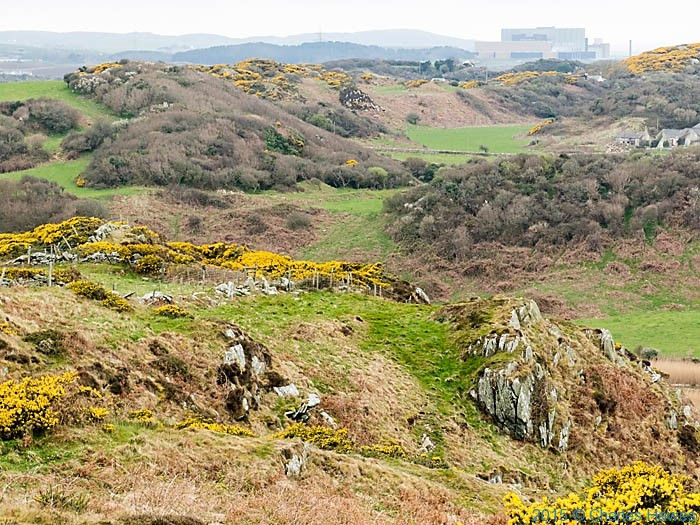 View to the Wylfa nuclear power station photographed from the Wales Coast Path in Anglesey by Charles Hawes