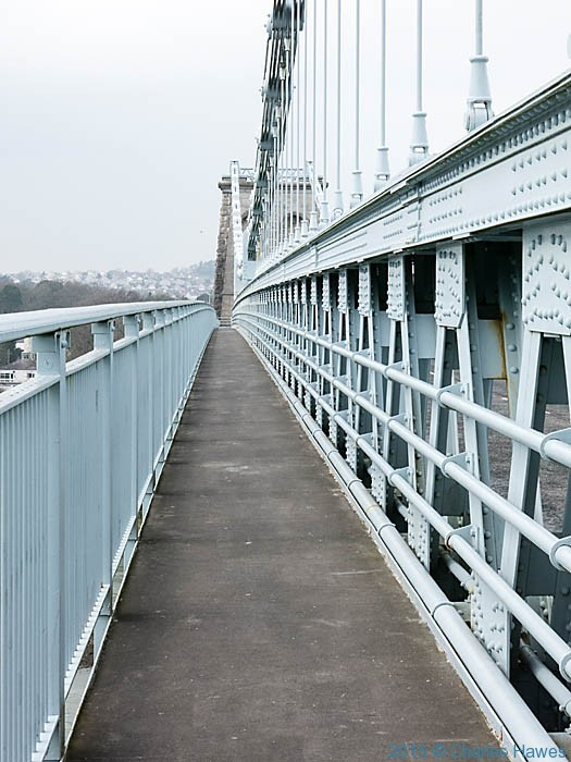Menai suspension bridge, photographed by Charles Hawes