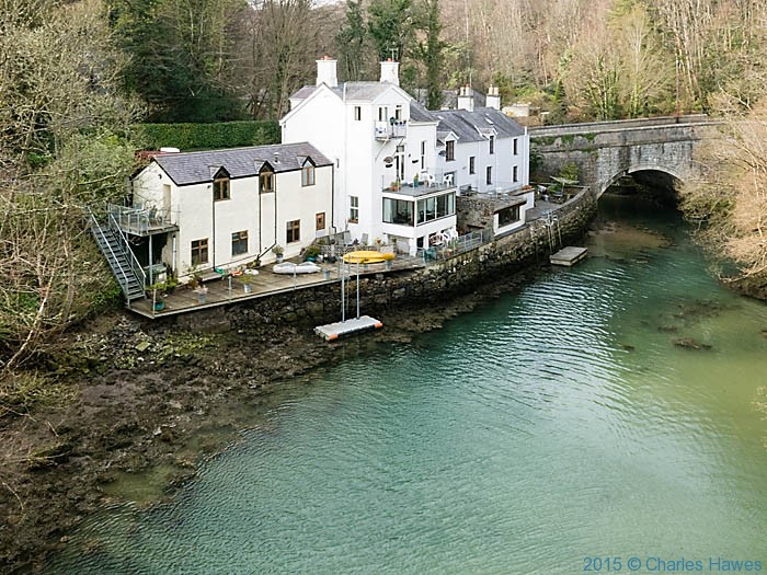 The Afon Cadnant, Menai Bridge, Anglesey, photographed from The Wales Coast path by Charles Hawes