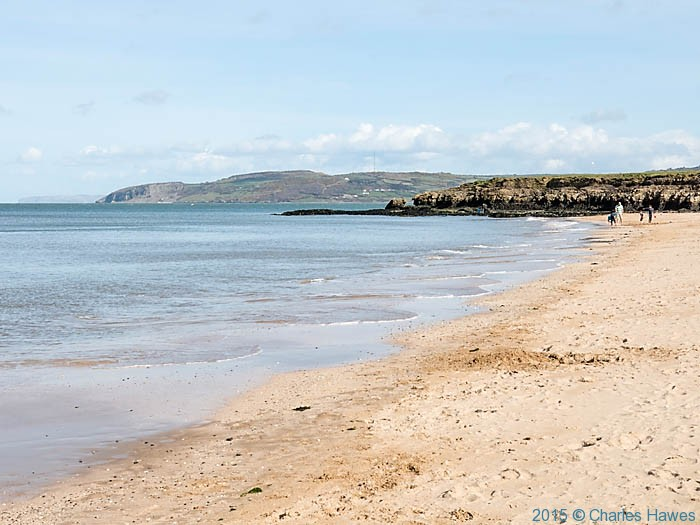 Benllech sands, Anglesey, photographed from The Wales Coast Path by Charles Hawes