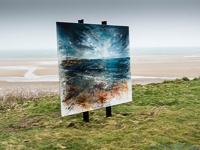 Painting above Traeth Lligwy, Anglesey, photographed from The wales Coast Path by Charles Hawes