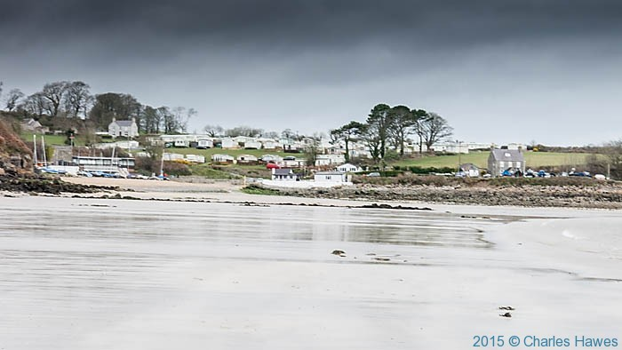 Traeth Bychan, photographed from the Wales Coast Path in Anglesey by Charles Hawes