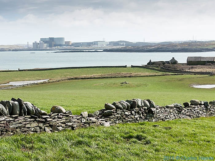 View of Wylfa power Station from near Cemlyn Bay, Anglesey, photographed by Charles Hawes