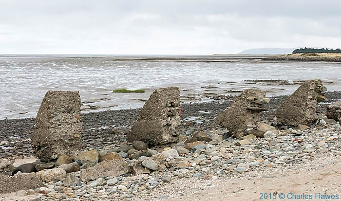 Sea wall near Llanfairfechan, photographed from The Wales Coast path by Charles Hawes