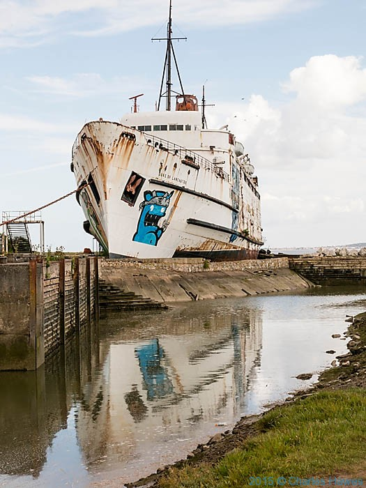 The Duke of Lancaster ship, Mostyn, photographed from the Wales Coast Path by Charles Hawes