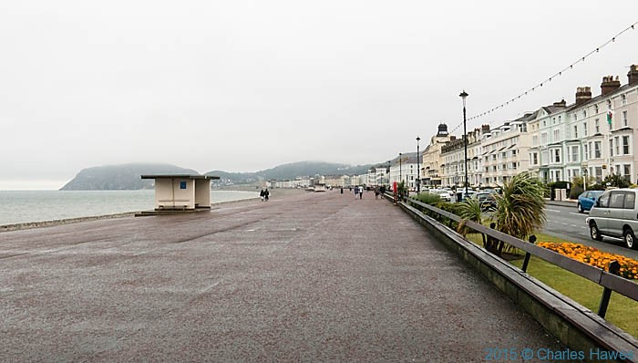 Llandudno promenade, photographed from The Wales Coast path by Charles Hawes