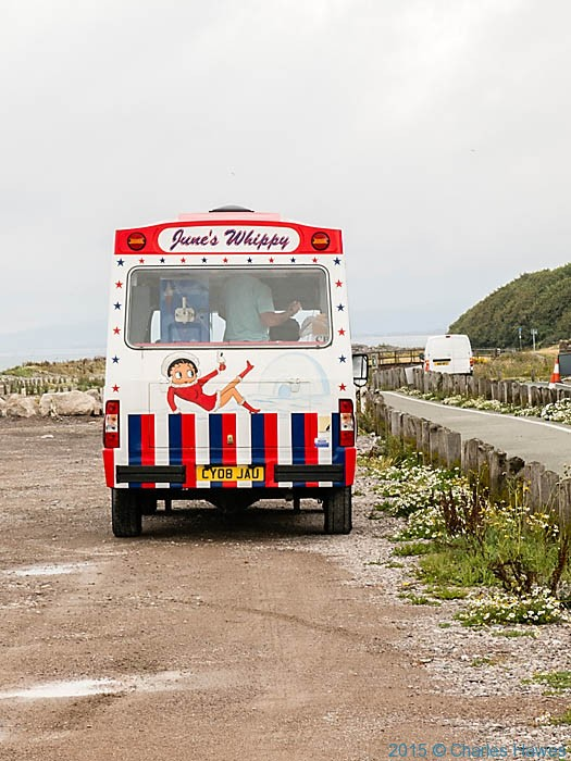 Ice cream van near llanddulas, photographed from the Wales Coast Path by Charles Hawes